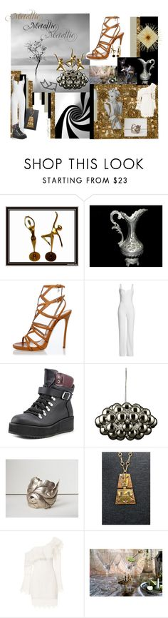 """""""Metallic"""" by stuffezes ❤ liked on Polyvore featuring Dsquared2, Galvan, Steve Madden, Nicholas and vintage"""