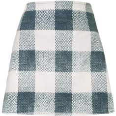 **Annie Skirt by Motel (725 MXN) ❤ liked on Polyvore featuring skirts, bottoms, faldas, multi, high waisted a line skirt, gingham skirt, a line skirt, high waisted skirts and knee length a line skirt