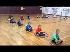 Musical Hula Hoops - A P.E. Game - YouTube