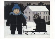 "Wil Barnet postcard -- ""The Sled"""