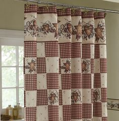 Country Stars Amp Hearts Bathroom Shower Curtain Primitive