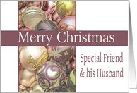To Special Friend & his Husband - Merry Christmas decorated ornaments