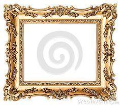 Frame de retrato dourado do vintage Objeto antigo do estilo