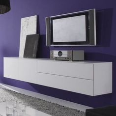 Zwevend Tv Dressoir Wit Locco
