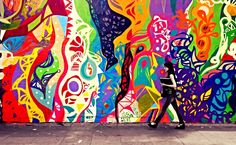 Embedded to The Street Art - Girl walks at San Nicolas district, Buenos Aires. Shot by Fabio Riesemberg.