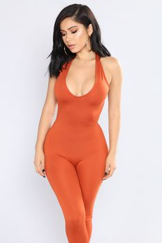 Available In Black And RustHalter JumpsuitDeep V NecklineOpen BackSkinny Polyester Spandex Plus Size Clothing Stores, Halter Jumpsuit, Fashion Nova Models, Pretty Lingerie, Skinny Legs, Women's Fashion Dresses, Women Lingerie, Plus Size Outfits, Photos