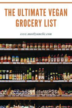 Grocery Lists, Grocery Store, Vegan Cookbook, Best Vegan Recipes, Vegan Foods, Going Vegan, Diet Tips, Get Healthy, Yummy Treats