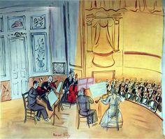 Chamber Music  -  Raoul Dufy   c.1948   French 1877-1953