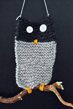 Craft for children - knit an owl/other animal/make it a double for your kids phone
