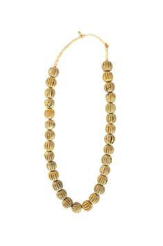 Globe Design, Ghana Brass Necklace via Establishment Home