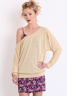 Lamixx Dolman Knit Sweater in Beige