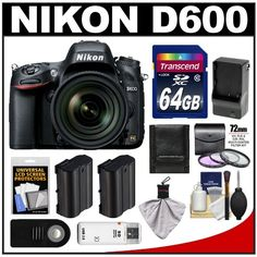 Buy Cheap Nikon D600 Digital SLR Camera & 24-85mm VR AF-S Zoom Lens with 64GB Card + 2 Batteries + Charger + 3 UV/FLD/CPL Filters + Remote + Accessory Kit