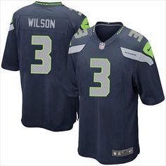Men's Seattle Seahawks Russell Wilson 3 NFL Football Elite Jersey 820103337410 on eBid United States