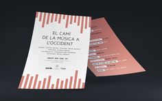 """Graphic design for the poster and the program of the concert """"La història de la música a occident"""" of the 3x4 chorus. The concept of this design was a musical frequency. It was a concert that did a walk around the west music history, for this reason, we took the music frequency as a global concept. Something that it was present since the beginnings of the music. Each song has its own and unique music frequency."""