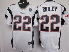 Nike Patriots  22 Stevan Ridley White With Hall of Fame 50th Patch Men s  Embroidered NFL 706e1e2c4