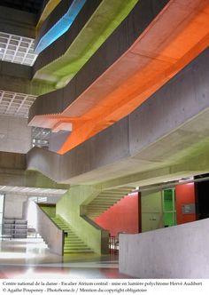 Centre National de Danse à Pantin, PAris - Escalier Atrium