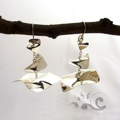 Earrings Origraphy pendant by pruniervecchio on Etsy, $160.00