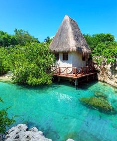 Land of Beautiful Huts and Resorts, Yucatan - Mexico