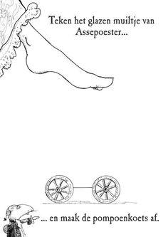 Teken het glazen muiltje van Assepoester
