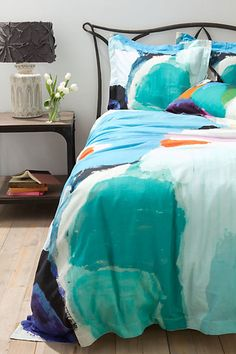 watercolors bedding