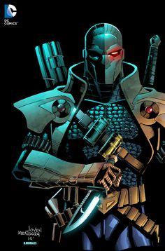 Deathstroke by Jovenal Mendoza colored by Dany-Morales.deviantart.com