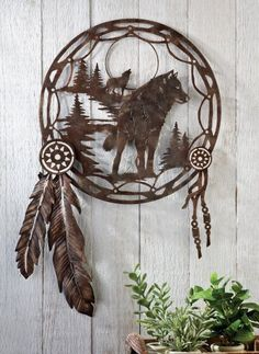 Wolf Dreamcatcher Metal Shadow Wall Art Collections Etc $14.99 + $4.99 shipping http://smile.amazon.com/dp/B00DSG6SFE/ref=cm_sw_r_pi_dp_Ns4fub0ZFCA95