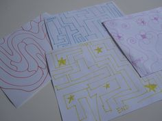 DIY Wipe Off Mazes (draw your own mazes to put in CD case)
