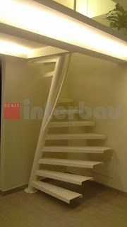 Inventive Staircase Design Tips for the Home – Voyage Afield Metal Stairs, Staircase Railings, Attic Stairs, House Stairs, Spiral Staircase, Staircase Design, Stairways, Stair Elevator, Small Buildings