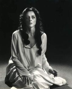 A young Maggie Smith as Lady Macbeth in the Stratford Festival's production of Shakespeare's Macbeth(1978)
