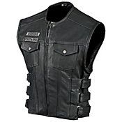 STREET & STEEL - Anarchy Leather Motorcycle Vest - Leather - Vests - Biker - Cycle Gear
