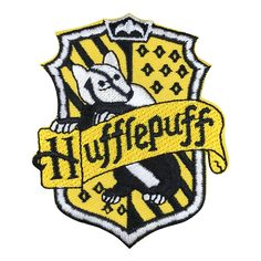 Hufflepuff Hogwarts' House Crest Harry Potter Embroidered Iron On Applique Patch Harry Potter Magie, Magia Harry Potter, Sew On Patches, Iron On Patches, Hogwarts Sorting Quiz, Harry Potter Patch, Hogwarts Houses Crests, Iron On Badges, Iron On Applique