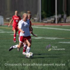 #Chiropractic helps athletes prevent #injuries.  Neurological factors aside, chiropractic can also help you prevent injuries on a biomechanical basis. Muscles attach to bones. If your #spine, #pelvis or any of your extremities #misalign, this will affect your body's muscle tone, creating asymmetries from side to side. In such cases, it is important to stretch and work the muscles properly; however, if their attachments have chronically misaligned, this will only provide short-term relief.