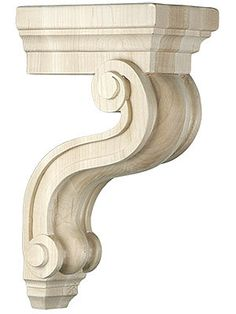 Ekena Millwork COR04X04X07DE-CASE-6 Corbel Factory Primed and Ready for Paint