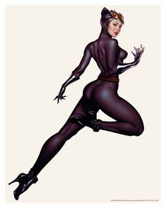 Catwoman Prints Officilally Licenced by DC comics. Sold at Bottleneck Gallery. Catwoman Cosplay, Batman Und Catwoman, Batman Art, Batgirl, Supergirl, Superman, Héros Dc Comics, Dc Comics Characters, Comics Girls