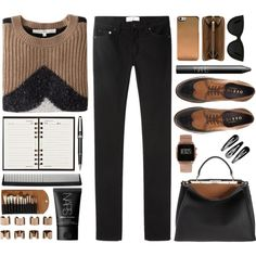 often by ferned on Polyvore featuring O'2nd, Acne Studios, Office, Fendi, Burberry, ASOS, Quay, NARS Cosmetics, Claudio Riaz and T3
