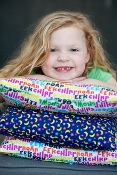 French Bull's Kids Jungle Collection for Windham Fabrics. So many cute prints, sew many possibilities - like these adorable pillow!