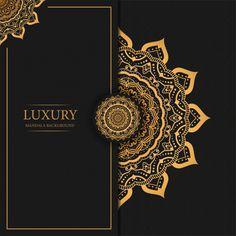 Luxury Mandala Background With Golden Arabesque Pattern Arabic Islamic Design Black Background Wallpaper, Luxury Background, Poster Background Design, Framed Wallpaper, Wallpaper Backgrounds, Vector Background, Islamic Art Pattern, Pattern Art, Pattern Flower