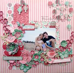 INTERNATIONAL GUEST ARTIST Rianne with an amazing layout using Spring Fling!