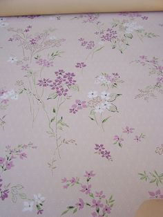 Vintage Wallpaper Lavender and White Floral by Jenz4seasons, $8.99