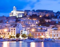 View top-quality stock photos of Spain Balearic Islands Ibiza Old Town From Harbour. Oh The Places You'll Go, Places To Travel, Travel Destinations, Location Ibiza, Dream Vacations, Vacation Spots, Ibiza Holidays, Ibiza Town, Ibiza Beach