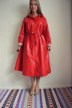 Anya in a raincoat