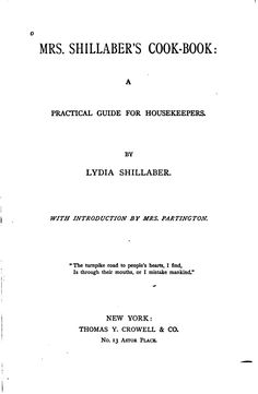 Mrs. Shillaber's cook-book : a practical guide ...