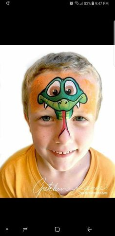 Snake face paint Animal Face Paintings, Animal Faces, Face Painting Tutorials, Face Painting Designs, Snake Face Paint, Cool Face Paint, Boy Face, Male Face, Face Painting For Boys