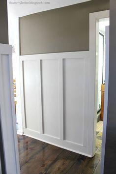 diy board and batten trim in hallway