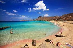 Falassarna Beach in Chania, Greece Santorini, Yolo, Most Beautiful Beaches, Beautiful Places, Falassarna Beach, Crete Beaches, Greek Islands To Visit, Crete Holiday, Crete Island