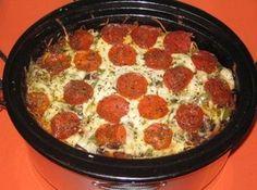 Crock Pot Pizza Pasta Recipe