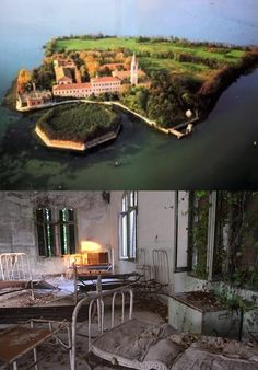 Poveglia Island, Italy, was used during the black plague to isolate victims of the disease. A mental hospital was also built there. Legend states that a particular mental health doctor tortured, butchered, and ate many of the patients, before going 'mad' and jumping to his death from the bell tower. Around 160,000 people have died on the island over the years. It now lies abandoned.