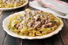 This hamburg stroganoff is quick, easy, and tasty. Great for a busy evening during the week.