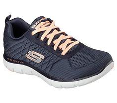 3cff63c666df Skechers Flex Appeal 20 Break Free Womens Sneakers Charcoal 65 -- Read more  at the image link.