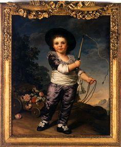 Presumed portrait of Louis XVII (1785-1795), 1789 by Adolph Ulrich Wertmuller (1751-1811)